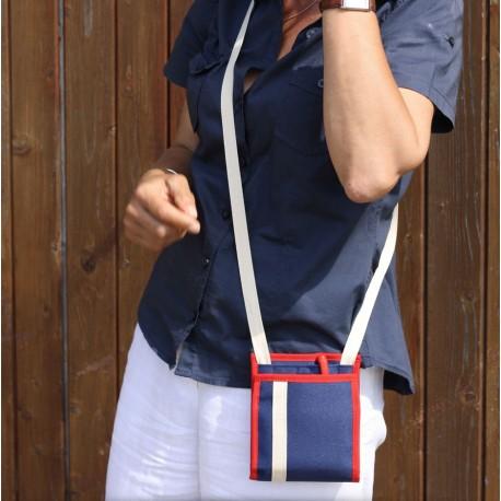 Ce sac à main mixte, petit et plat se glisse sous votre veste dans les transports en commun ~ Fabriqué en Maine-et-Loire