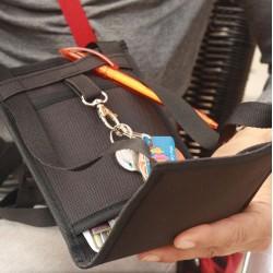 Petite sacoche minimaliste - Monnaie , carte d'identité, cartes bancaires, chéquier et smartphone en sécurité ~ Made in France