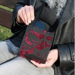 Sac malicieux et fonctionnel - Petite sacoche bandoulière élégante et discrète - Besace plate avec des compartiments bien pensés