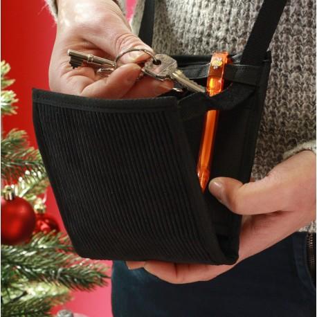 Une sacoche très discrète et pratique - Un petit sac élégant et breveté - Fabriqué en France par du personnel en situation de ha