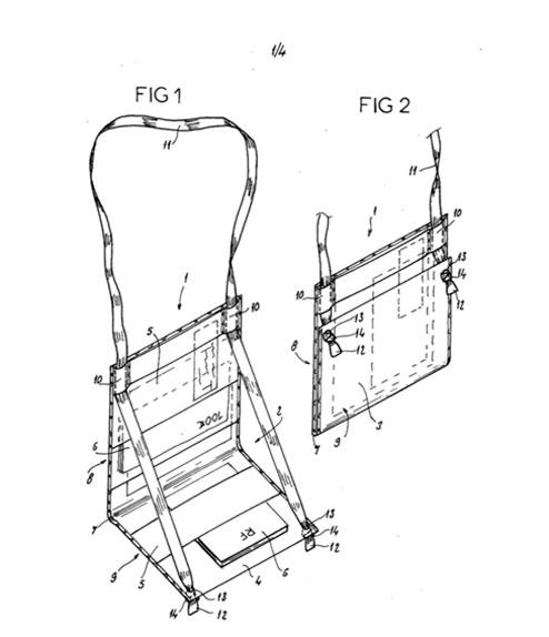 Le brevet en image déposé pour protéger le Ti Sac