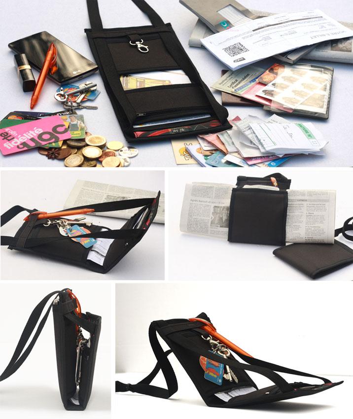 Ce petit sac bandoulière léger et discret reste plat même rempli et devient la sacoche de voyage idéale ou un compagnon indispensable pour homme ou femme